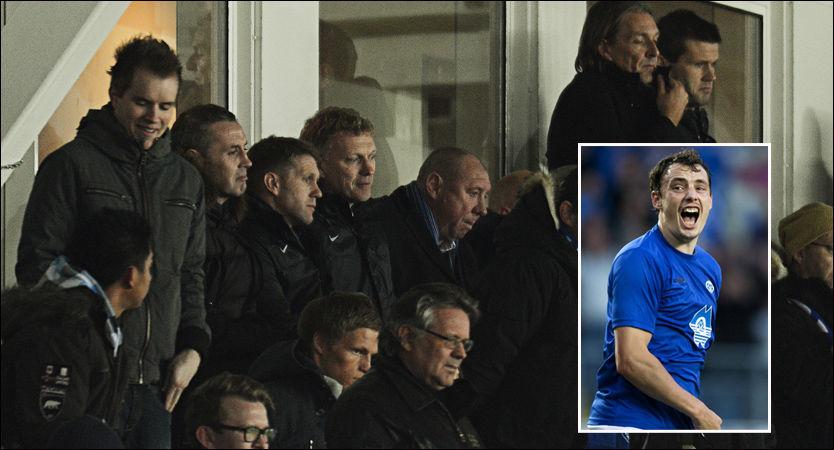 FULGTE MED: Everton-manager David Moyes fulgte nøye med Vegard Forren i kampen mot FC København. Foto: Erik Birkeland/NTB Scanpix