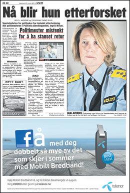 FAKSIMILE: VG 23. juni i år.
