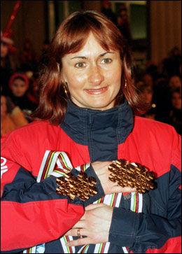 VM-DRONNING: Jelena Välbe tok fem gull i Trondheim-VM i 1997. Foto: Cornelius Poppe, NTB Scanpix