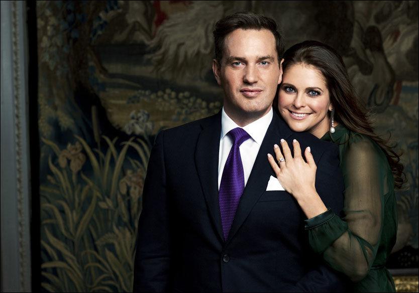 MØTER ALENE: Prinsesse Madeleine kommer uten sin forlovede Chris O' Neill ettersom han prioriterte jobben sin framfor den kongelige tilstellingen. Foto: Kungahuset.se