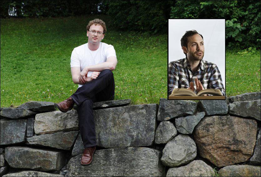 SKRIVER BOK: Simen Sætre (innfelt) skriver bok om Peder Nøstevold Jensen, bedre kjent som bloggeren Fjordman. Foto: Magnar Kirknes/Frode Hansen/VG