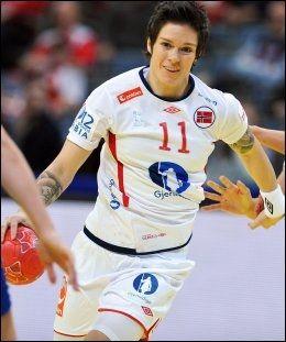 TOPPSCORER: Anja Edin ble norsk toppscorer med ni mål på 12 forsøk. Foto: Scanpix