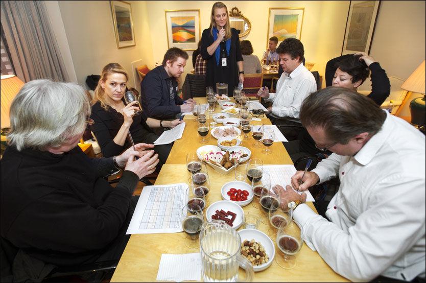 TESTPANELET: Fra venstre Stig Ahlstrøm, Eline Schulstock, Morten Pettersen, Mona Langset, Knut Albert Solem, Ida Faldbakken og Gustav Jørgensen. Foto: HELGE MIKALSEN/VG