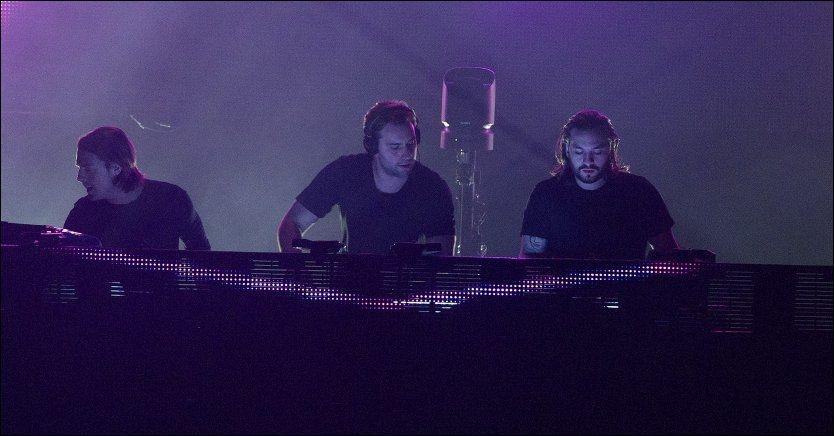 SVENSKE DJ-KONGER: Swedish House Mafia - her i Amsterdam 7. desember. Foto: WENN