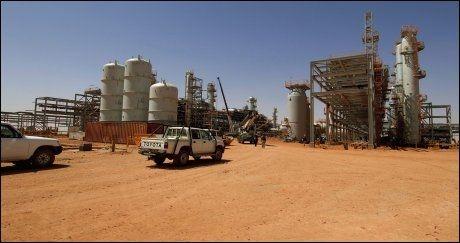 ANLEGGET: Det var her ved In Amenas-anlegget i Algerie gisseldramaet startet onsdag 16. januar. Foto: Statoil