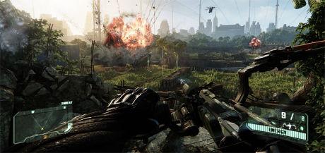 LEKKERT: Det er lekre miljøer som dette du får boltre deg i i «Crysis 3». Crytek har alltid vært en spydspill for avansert spillgrafikk, det er de så absolutt denne gangen også. Foto: CRYTEK/EA