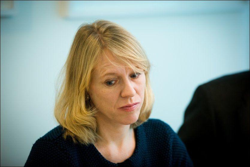 KAN IKKE LOVE: Arbeidsminister Anniken Huitfeldt (Ap) kan ikke garantere at døvblinde får sine tolker tilbake. Foto: Jan Petter Lynau, VG
