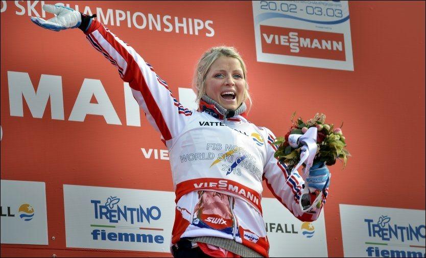 GOD SOM GULL: Therese Johaug vant 10 kilometer fristil under VM i Val di Fiemme. Foto: Bjørn S. Delebekk, VG