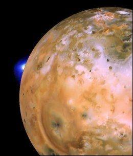 NY KUNNSKAP: Dette bildet av Io, en av Jupiters måner, er blant de imponerende bildene som er sendt hjem fra romsonden «Voyager 1». Foto: NASA