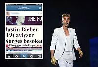 VG misbrukt i falsk Justin Bieber-rykte