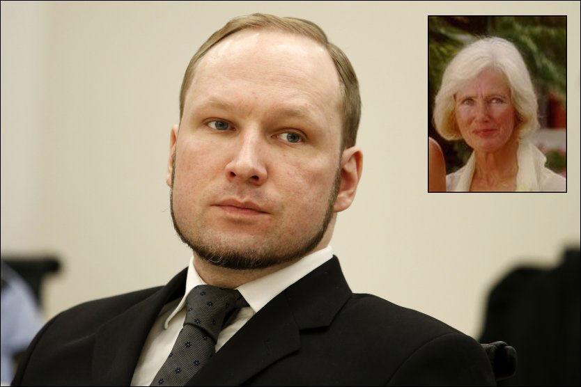 MOR OG SØNN: Moren til Anders Behring Breivik, Wenche Behring Breivik (innfelt), døde på en helseinstitusjon i går. Foto: Scanpix/Privat