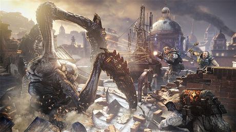HARDBARKET: «Gears of War: Judgement» byr på et hardbarket gjensyn med Gears-universet. Foto: PEOPLE CAN FLY/EPIC GAMES/MICROSOFT