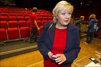 Erna Solberg landets mest populære partileder