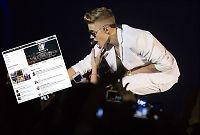 Justin Bieber mistet Twitter-tronen