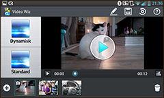 Med Video Wiz-programvaren kan du sette sammen videoer, stillbilder og musikk, og legge på effekter.