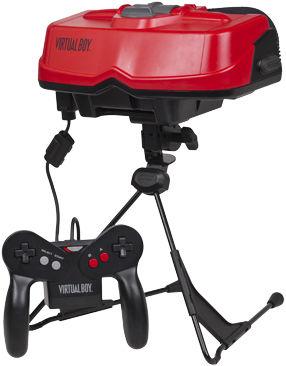FIASKO: I 1995 forsøkte Nintendo seg på VR med sin Virtual Boy. Men teknologien var ikke helt klar, for å si det sånn - den ble en av spillhistoriens største fiaskoer. Foto: NINTENDO