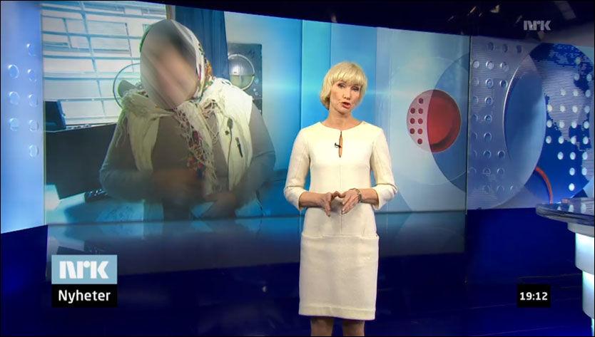 - BURDE IKKE BLITT SENDT: Her er Dagsrevyen-innslaget NRK nå selv innrømmer aldri burde blitt sendt. Foto: SKJERMDUMP FRA NRK