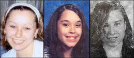 FRI: Amanda Marie Berry, Georgina Lynn DeJesus og Michelle Knight brøt seg mandag ut fra hovedmistenktees hus, etter ti år i fangenskap. Bildene har blitt sendt ut av FBI i forbindelse med forsvinningssaken. Foto: Via Reuters