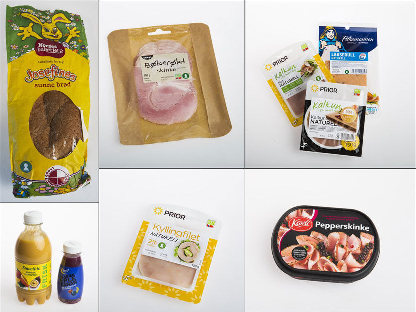 MANGLER: Disse produktene er blant de som har blitt sjekket ut i Mattilsynets rapport - samtlige har fått anmerkninger.