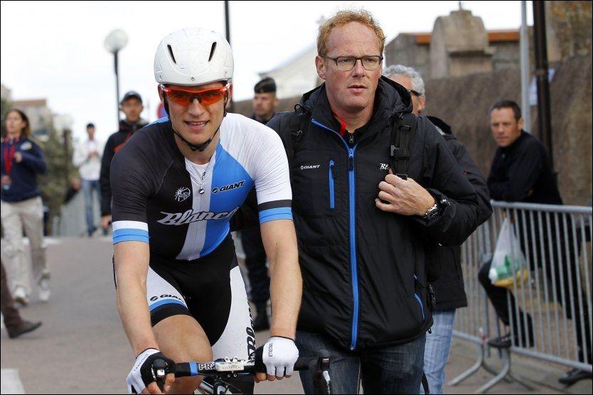 SNØT KRISTOFF FOR TRIPPEL: Theo Bos snøt Alexander Kristoff for tre etappeseirer på rad i Tour of Norway da han vant den tredje etappen fra Tønsberg til Drammen. Her etter en etappeseier i Criterium International i mars. Foto: AFP PHOTO / PASCAL POCHARD-CASABIANCA