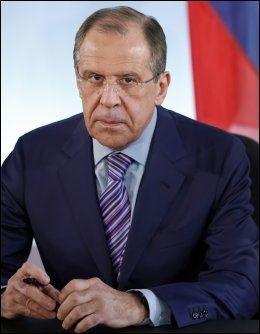 SKANDALØST: Russlands utenriksminister Sergej Lavrov er ikke fornøyd. Foto: AP