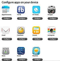 Før du kan begynne å bruke klokken, må du sette opp alle appene på en nettside.