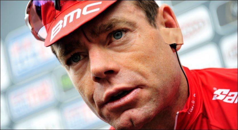 KLAR FOR INNSATS: Her er Cadel Evans avbildet før den 11. etappen av Giro d'Italia sist onsdag. FOTO: Ap