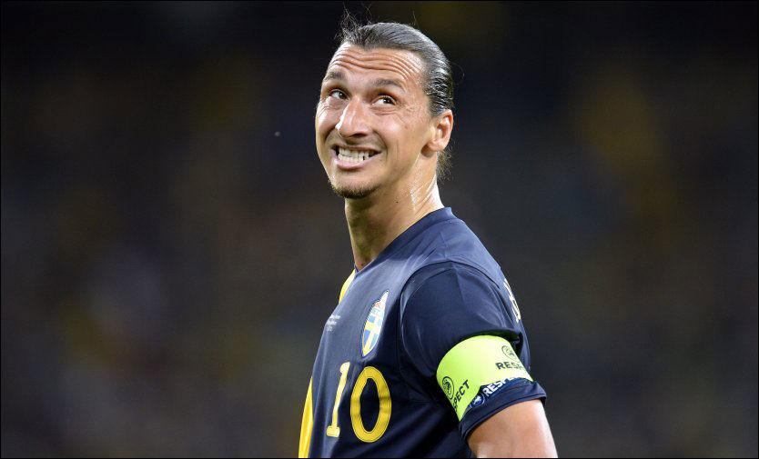 VIL FORTSETTE PÅ LANDSLAGET: Zlatan Ibrahimovic er usikker på fremtiden i Paris, men jakter på scoringsrekord på det svenske landslaget. Foto: Bjørn S. Delebekk