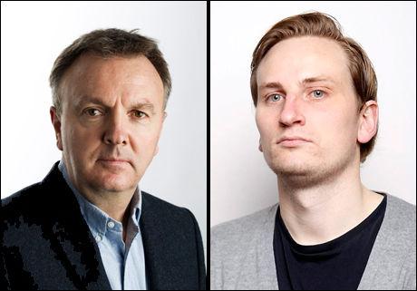 VURDERER: Truls Dæhli (t.v.) og Øyvind Herrebrøden gir sin vurdering av spillerne i finalen. Foto: VG