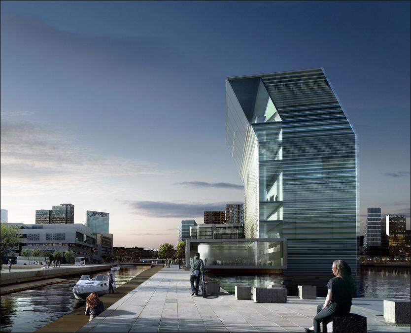 NYBYGG: Her er en tidligere tegning av det planlagte Lambda-bygget i Bjørvika i Oslo. Foto: Scanpix