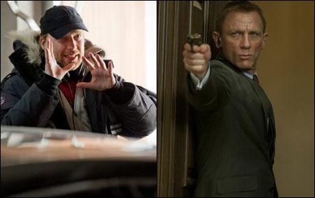 POTENSIELT TEAM: Morten Tyldum (t.v.) og Bond-skuespiller Daniel Craig. Foto: Erik Aavatsmark og MGM/ SF Norge