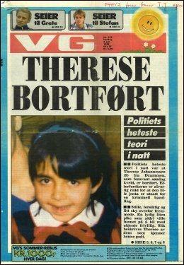 Med et pennestrøk kan foreldelsesfristen for drapssaker bli opphevet i dag. Det betyr at jakten på den som bortførte og drepte ni år gamle Therese Johannessen for snart 25 år siden kan fortsette også etter 3. juli i år. Her er VGs forside fra 5. juli 1988 da Johannessen ble bortført.