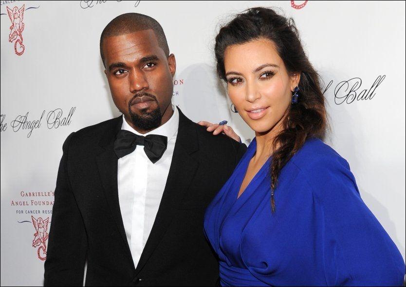 BLE FORELDRE: Kanye West og Kim Kardashian har blitt foreldre for første gang, til ei lita jente. Foto: AP