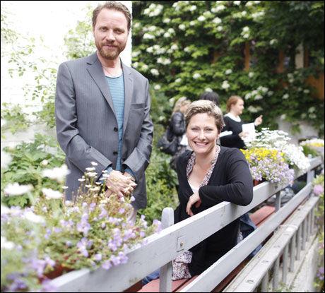 SPILLER PAR: Magnus Grønneberg og Kjersti Elvik. Foto: FREDRIK SOLSTAD