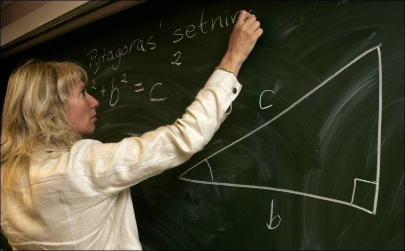 MÅ ETTERUTDANNE SEG: Høyre vil sparke lærere som ikke tar videreutdanning. Illustrasjonsfoto. Foto: Bjørn Sigurdsøn / SCANPIX