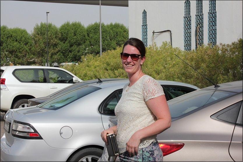 BENÅDET: Marte Dalelv (24) ble i dag benådet av emiren i Dubai. VG møtte en svært lettet Dalelv kort tid etter. Foto: MARIANNE VIKÅS/VG