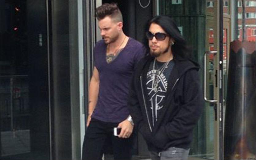 PÅ NORGESBESØK: Dave Navarro sjekket inn på samme hotell som Rihanna, men tilsynelatende er det tilfeldig at de to stjernene bor der på likt.