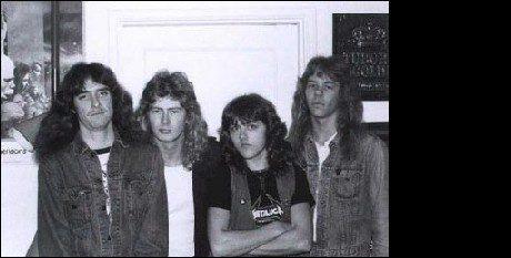 I GAMLE DAGER: Slik så Metallica ut i 1981. Fra venstre: Cliff Burton, Dave Mustaine, Lars Ulrich og James Hetfield. Foto: Metallica.com