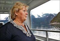 Erna starter valgkamp-turné - Jens tar ferie