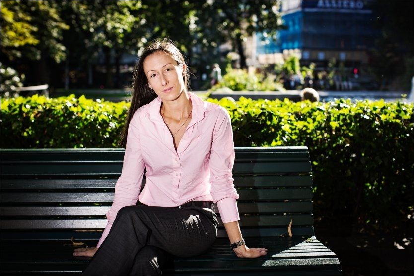REAGERER: Sexarbeider Hege Grostad (27) kjemper for at sexarbeidere skal få gode og verdige arbeidsforhold. Hun mener Likestillings- og diskrimineringsombudet tvert i mot bidrar til å diskriminere sexarbeidere. Foto: Jørgen Braastad