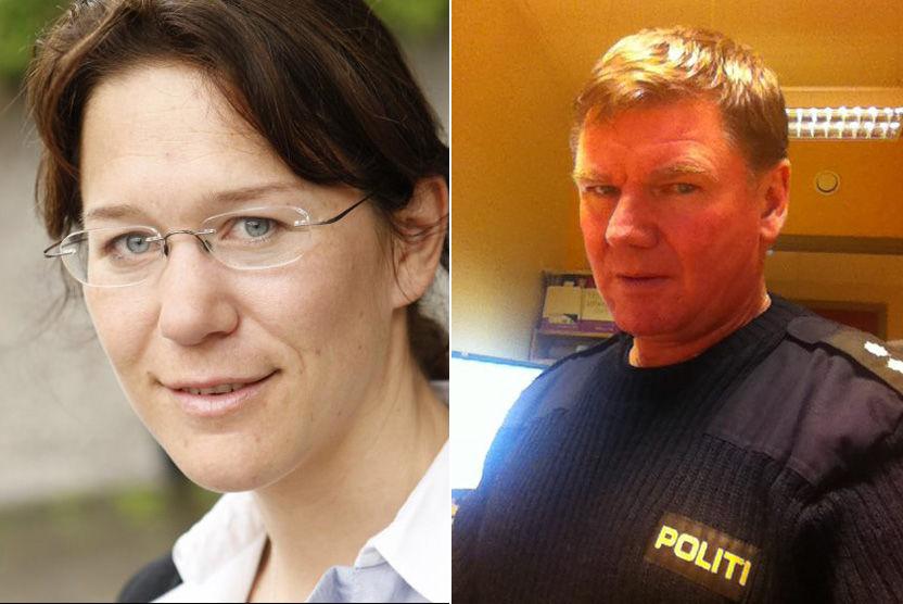 UENIG: Ytringsfrihetsforsker Anine Kierulf mener ikke det at Stein-Robin Kleven Bergh kalte Jens Stoltenberg for «krapyl» alene er grunn nok til oppsigelse. FOTO: ERLEND AAS/NTB SCANPIX og PRIVAT