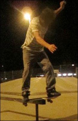DRAPSSIKTET: Dette bildet av siktede er tatt i 2011 i en lokal skatepark. Foto: PRIVAT