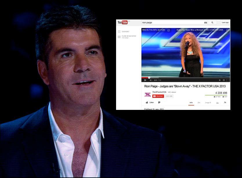 IMPONERT: Rion Paige har sin unge alder til tross en voksen stemme - noe hun beviste for juryen og TV-seerne i «X Factor» i USA i forrige uke. Foto: WENN/YOUTUBE