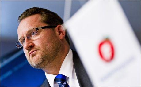 TOK OPPGJØR: Generalsekretør Finn Egil Holm i Frp. Foto:NTB/SCANPIX.