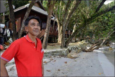 NYTER FREDEN: Pan Khumprakab bodde flere år i USA. Da han flyttet hjem, søkte han fred og ro; resultatet ble Koh Wai Beach Resort. Foto: GJERMUND GLESNES