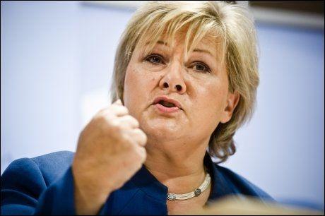 TIL TOPPS I NORGE: Erna Solberg medgir overfor VG at hun blir inspirert av Merkel. Foto: NTB SCANPIX