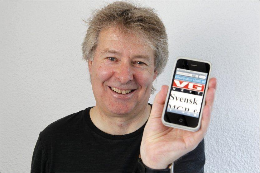 STRÅLENDE FORNØYD: VGs administrerende direktør og sjefredaktør, Torry Pedersen er godt fornøyd med at VG befester sin posisjon som Norges mest leste mediehus. Særlig fremhever han veksten på mobile plattformer som er på over 56 prosent i forhold til 2012. Foto: Trond Solberg/VG