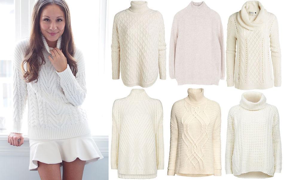 2610bee6 MED HALS: Sonias genser er fra Zara og koster 559 kr. Øverst fra venstre