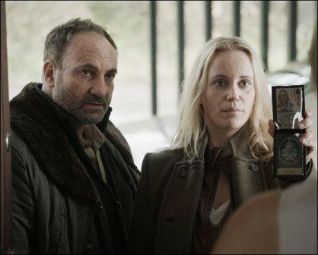 RADARPAR: Kim Bodnia og Sofia Helin er radapar i «Broen». Foto: JØRGEN JOHANSSON
