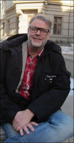 ALDRI: - Vi har aldri sagt at Saga har Aspergers syndrom, sier forfatteren Hans Rosenfeldt. Foto: JØRN PETTERSEN/VG